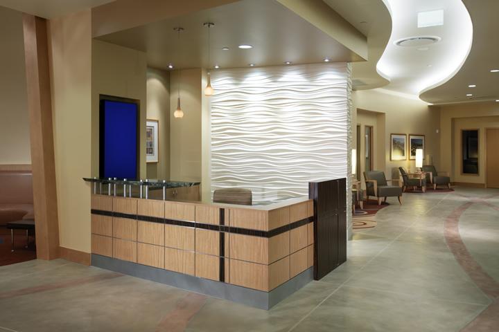 George and Julia Argyros Health Center lobby