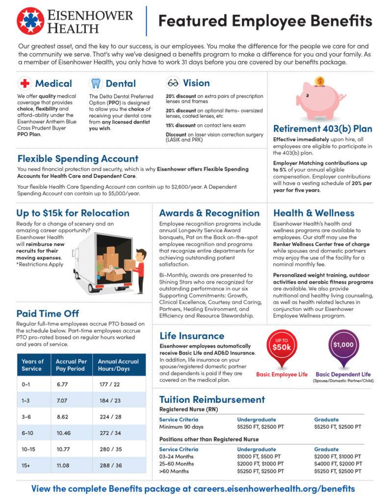Eisenhower Health Featured Benefits