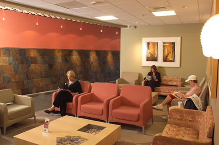 Lucy Curci Cancer Center waiting room