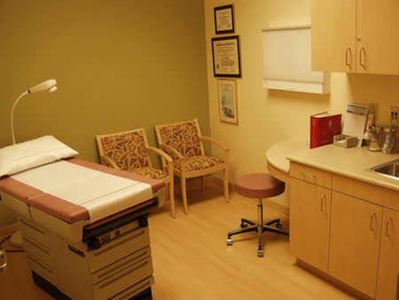 Lucy Curci Cancer Center hospital room