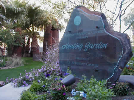 Entrance to the Healing Garden at the Lucy Curci Cancer Center