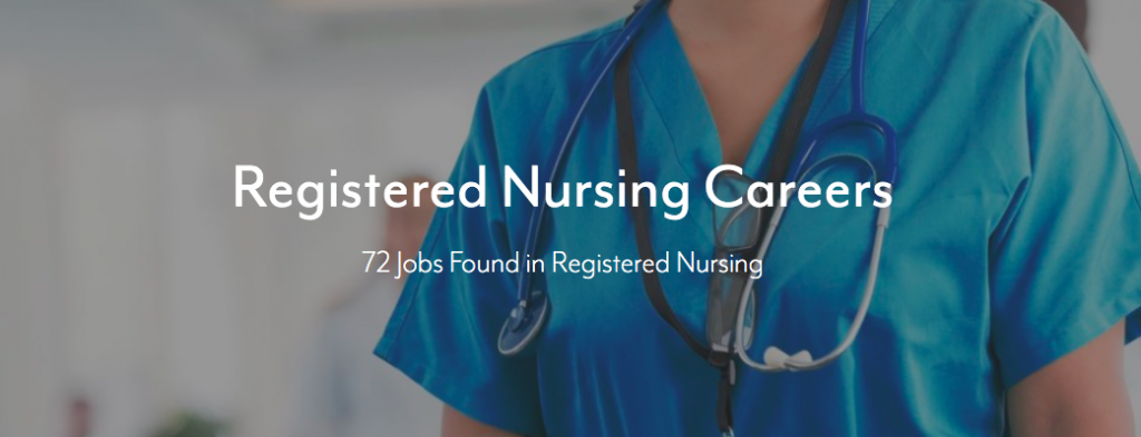 Eisenhower Career Registered Nursing Job Page